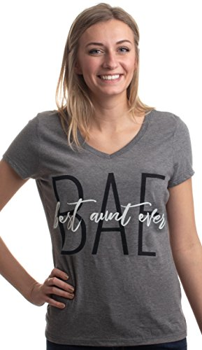 BAE: Best Aunt Ever | Cute Funny Niece Nephew New Baby V-Neck T-Shirt for ()