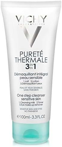 Vichy Pureté Thermale One Step Cleanser for Sensitive Skin, 3.3 Fl. Oz.