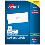 "Avery Address Labels for Copiers 1"" x 2-13/16"", Box of 3,300 (5351)"