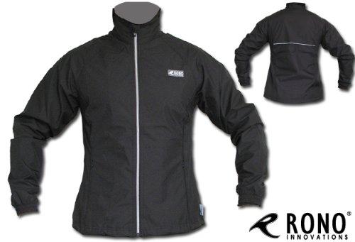 Schwarze Rono Damen Laufjacke - Women Regustop Running Jacket