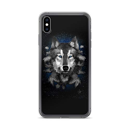 iPhone Xs Max Case Anti-Scratch Creature Animal Transparent Cases Cover Night Wolf Animals Fauna Crystal Clear]()