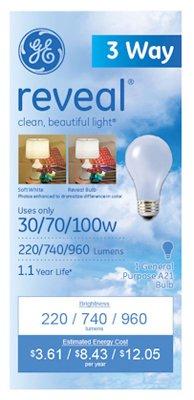 97784 30/70/100-Watt 3-Way A-Line Light Bulb - Quantity 12 Standard Incandescent, Three Way