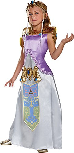 Disguise Girl's Zelda Deluxe Outfit Fancy Dress Child Halloween Costume, Child S (4-6X) -