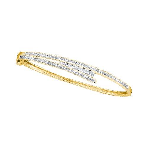1.00CTW DIAMOND JOURNEY BANGLE (Bangle Diamond Journey Bracelet)