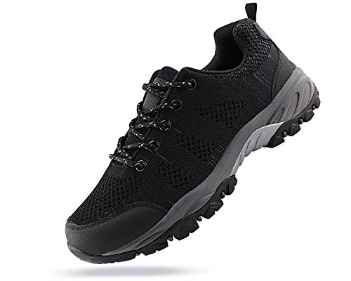 066b4adc7 Jabasic Women Hiking Shoes Breathable Mesh Athletic Outdoor Sneakers  (blk Grey