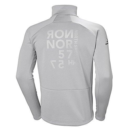 Hombre Helly Chaqueta Jacket Fleece HP plateado Hansen yqWTqX4