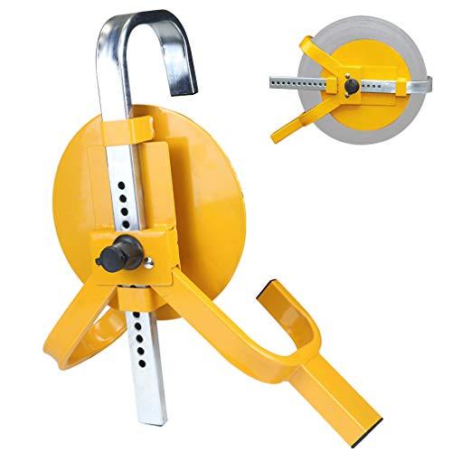 OKLEAD Wheel Clamp Lock Heavy-Duty Car Tire Clamp Lock Tire Claw Anti-Theft Lock for Trailers Boats Rv Fits 8-10 Wheel