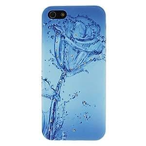 Mirada del diamante marco azul transparente caja dura azul patrón para el iphone 5/5s