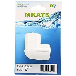 Mkats 34 in PVC F Elbow