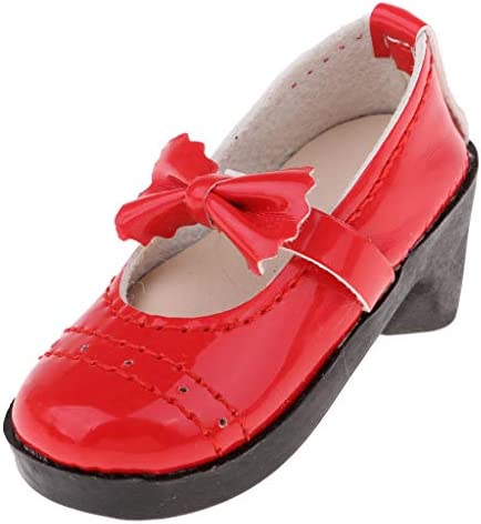 Tachiuwa 3分の1スケールのボールジョイント人形の服のための素敵な赤いbowknotハイヒールの靴 - 赤