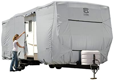 Classic Accessories OverDrive PermaPRO Deluxe Travel Trailer Cover or Toy Hauler Cover - Lightweight Ripstop Fabric with RV Cover