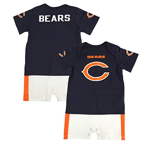 Outerstuff NFL Chicago Bears Infant Boys Fan Jersey Romper, 12 Months, Deep Obsidian ()