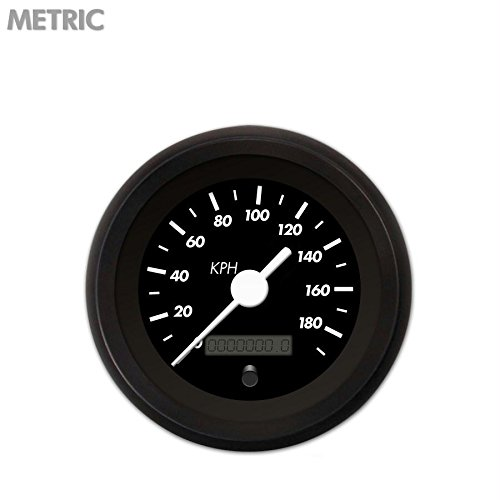 GAR133ZMXHACAD Aurora Instruments Marker Black Speedometer Gauge 4808