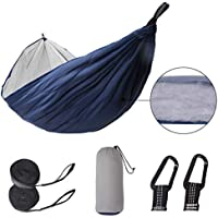 Patio Guarder Nylon Camping Fabric Hammock with Tree Straps & Carabiners