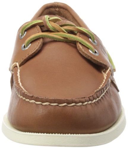Sperry A/O 2-Eye Leather 0195214 - Mocasines de cuero para hombre Bronceado