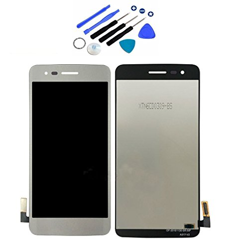 """Eaglestar LCD Display Screen Touch Digitizer Full Assembly With Tools For LG Aristo M210 MS210 / Phoenix 3 K8 2017 5""""-Silver"""
