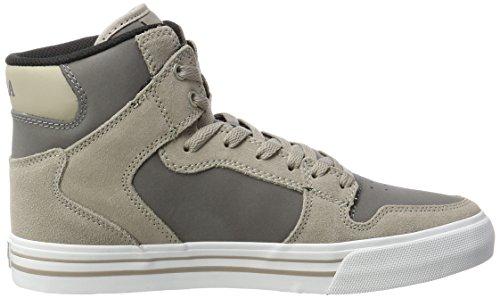 Khaki white Vintage Uomo Grau Sneakers Alte SupraVaider Charcoal HwqC4pcn