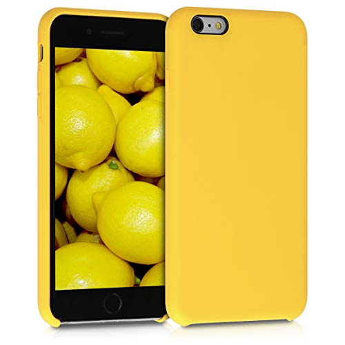 kwmobile TPU Silicone Case Compatible with Apple iPhone 6 Plus / 6S Plus - Soft Flexible Rubber Protective Cover - Honey Yellow
