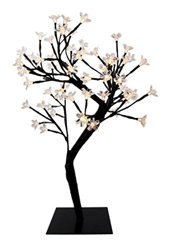 LED Cherry Blossom Desk Bonsai Tree Light Table Fairy Twig Lamp Home Xmas Decor (Mrs Christmas Outfit)
