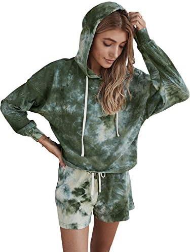Scoprimay Two Piece Outfits for Women Tie Dye Long Sleeve Sweatsuit Tracksuit Jogging Suit