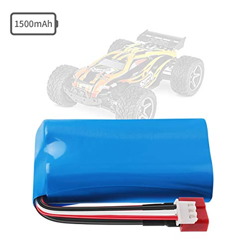 - Rechargeable Li-ion Battery 7.4V 1500mAh Universal for WLtoys 4WD Rc Cars 12401 12402 12403 12404 12423 12428 Series Spare Part Replacement