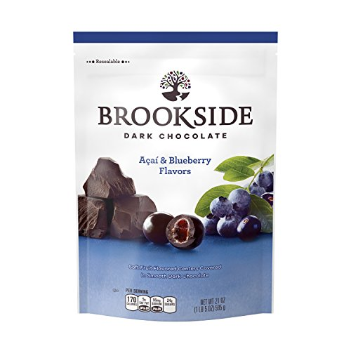 BROOKSIDE Dark Chocolate Candy, Acai & Blueberry Flavors, 21 Ounce Bag