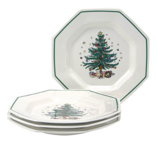 Nikko Ceramics Christmastime Dinner Plates, Set of 4