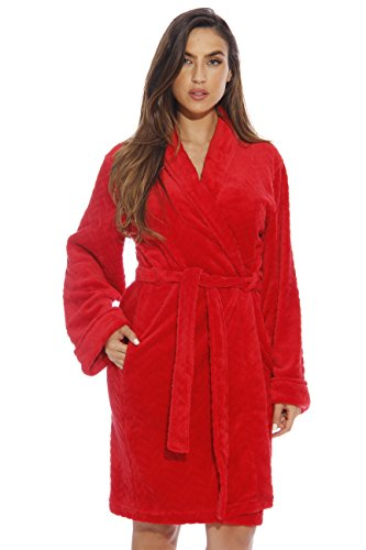 (Just Love Kimono Robe Bath Robes for Women 6312-Red-M )