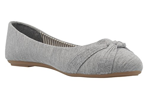 femme fitters tourne lin jersey Amy gris revers en ballerine son au ballerines en ballerines 6ZZwTqY