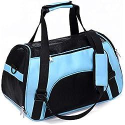 Pet Backpack Messenger Carrier Bags Cat Carrier Outgoing Travel Packets Breathable Pet Handbag,Food Bag,53x26x36cm