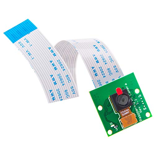 AuviPal 5 Megapixels Raspberry Pi Camera Module 1080p OV5647 Sensor with 6 inch 15 Pin Ribbon Cable for Model A/B/B+, Pi 2, 3, 3B+ and Pi 4