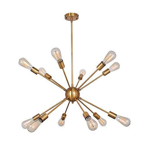 Sputnik Globes Glass Chandelier,e27 Pendant Lamp Branch Type Ceiling Lamps-12-lights