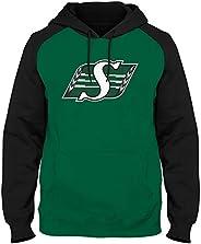 Saskatchewan Roughriders CFL Express Twill Logo Raglan Hoodie - Rider Green/Black