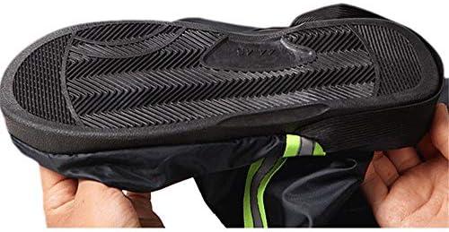 シューズカバー オックスフォード生地のスーツの男性と女性が着ることができるシュー3色をハイキング乗馬ブーツノンスリップソール 防風性と防水性 (Color : Black, Size : XXL)