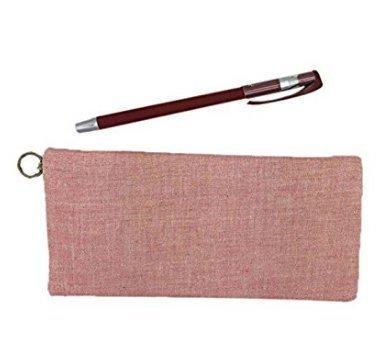 danapp Kreatives Pure Farbe Leinen Pen Bag Learning Supplies Stoff Multi–Funktionales Student Bleistift Fall same hellrosa hellrosa jxK1bV
