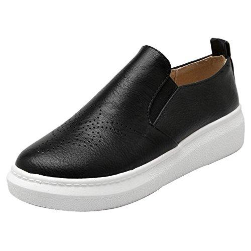 Coolcept Zapatillas de Tacon Plano para Mujer Black