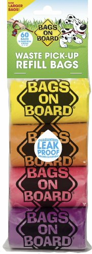 Bags on Board Waste Pick-Up Refill Bags Rainbow, 1440ct (24 x 60ct)