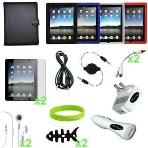 """TsirTech 18-Item Accessory Bundle for """"Apple iPad """" 4G lite and 3G tablet / Wifi model 16GB, 32GB, 64GB(Compatible with iPad 2,iPad 3)"""