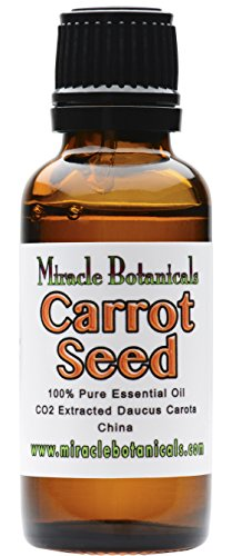 Miracle Botanicals Carrot Seed Essential Oil - 100% Pure Daucus Carota - Therapeutic Grade - CO2 Extracted 30ml/1oz.