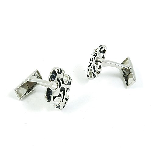 50 Pairs Cufflinks Cuff Links Fashion Mens Boys Jewelry Wedding Party Favors Gift UWL003 Silver Roman Cross by Fulllove Jewelry