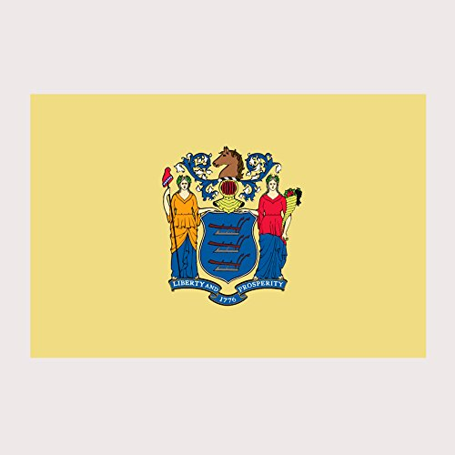 New Jersey Pride State Flag Full Color Two Pack - 2 Inch Decal for Macbook, Laptop or other - Elizabeth Jersey Garden