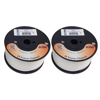 Taulman 3D 618 Natural Nylon Filament for 3D Printer 1.75mm 2 1lb Spool Bundle MADE IN USA