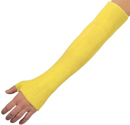 MCR Safety 9378BE Kevlar Economy Weight Sleeve with Bar Tack, Yellow, 18-Inch by MCR Safety