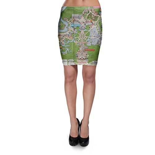 Magic Kingdom Map Bodycon Skirt Rock XS-3XL