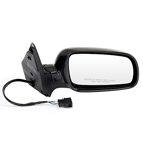 ECCPP Passenger Side Mirrors, Right Side Rear View Mirrors Power Heated Manual Folding Black Door Mirror Replacement fit for 1999-2010 Volkswagen Jetta 1999-2006 Volkswagen Golf
