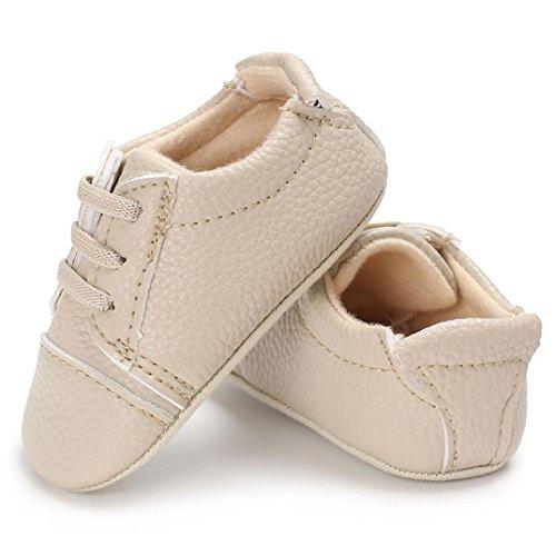 Clode® Baby Säugling scherzt Mädchen Jungen weiche alleinige Krippe Kleinkind Neugeborene Schuhe Khaki