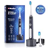 Beauty : Mueller Sonic Rechargeable Electric Toothbrush With Dentist Recommended CrossClean Technology, Replacement Brush Heads, 5 Modes, IPX7 Fully Waterproof, Built-in Auto Timer 3D Cleaning Action