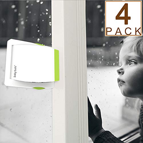 (4 Pack Sliding Glass Door Locks for Child Safety, Baby Proof Closets, Sliding Window Locks, with Strong Adhesive Tape, No Screws or Drills, Easy Clean)