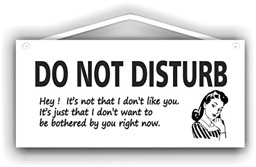 Do not disturb sign with retro female image for indoor or outdoor use