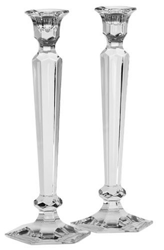 Reed & Barton Crystal Summit 12-Inch Candlesticks, Pair